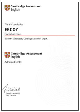 Innove Cambridge certification